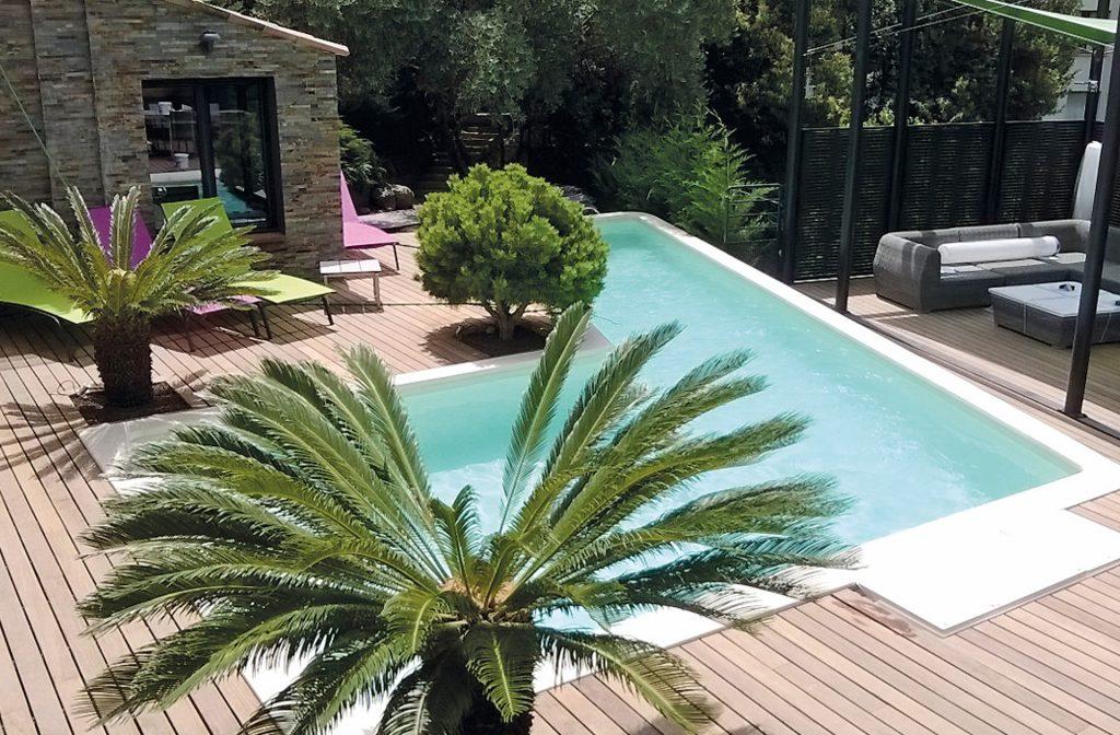 Pool im Garten 9m x 4,5m