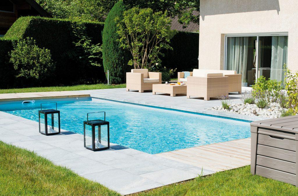 Schwimmbecken Garten 9m x 4m