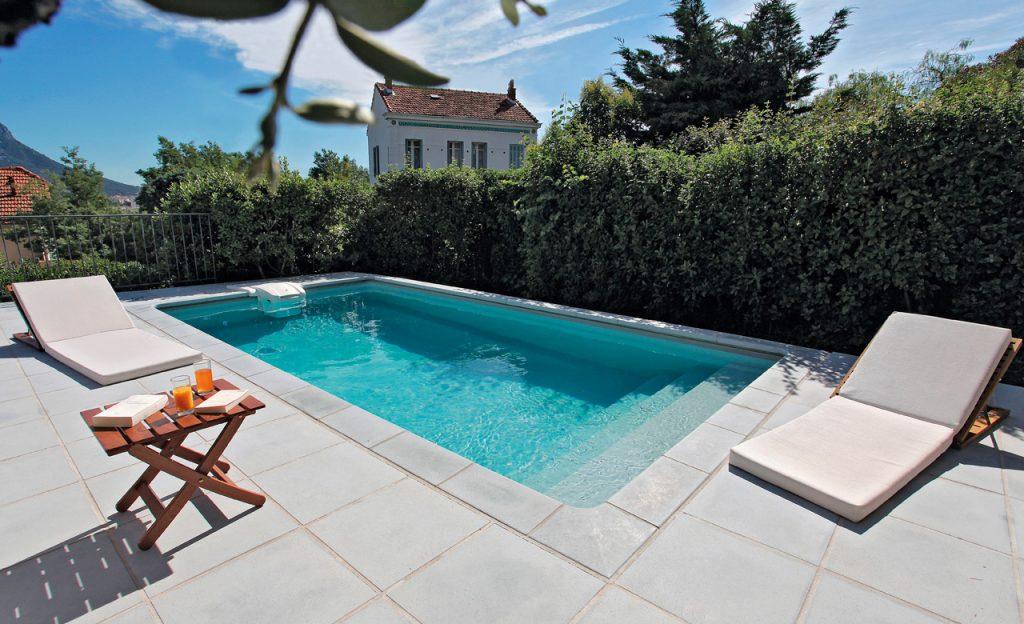 Beckenumrandung: Pool-Randsteine Desjoyaux Classic grau