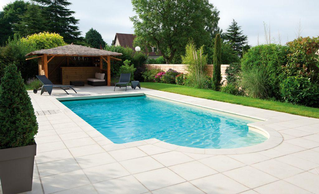 Beckenumrandung: Pool-Randsteine Desjoyaux Classic strohgelb