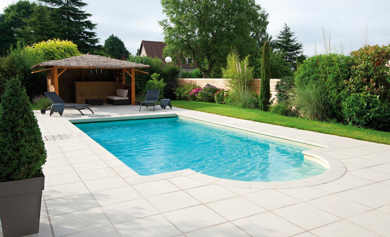 Beckenumrandung: Pool Randsteine Desjoyaux Classic Strohgelb