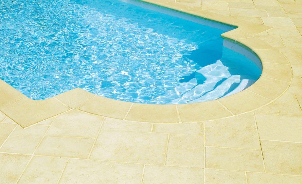 Beckenumrandung Pool-Randsteine Desjoyaux Tradition sand