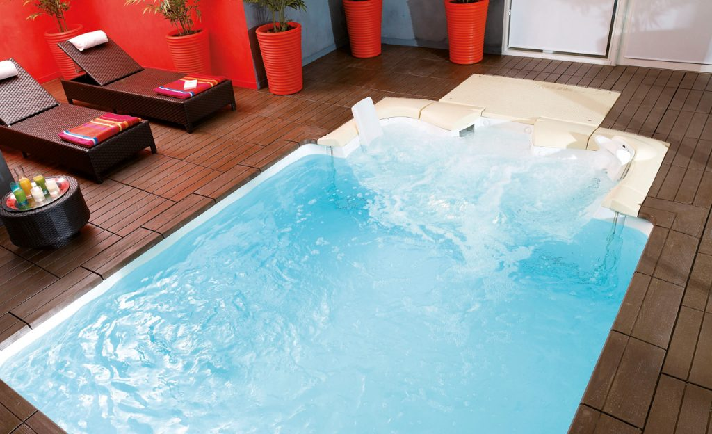 Jet Set Pool Filtertreppe aktiv