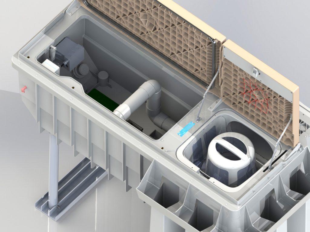 Pool-Filtertechnik PF.I 181 3D Innenansicht
