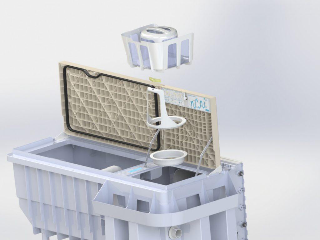Pool-Filtertechnik PF.I 181 3D Detailansicht Filter